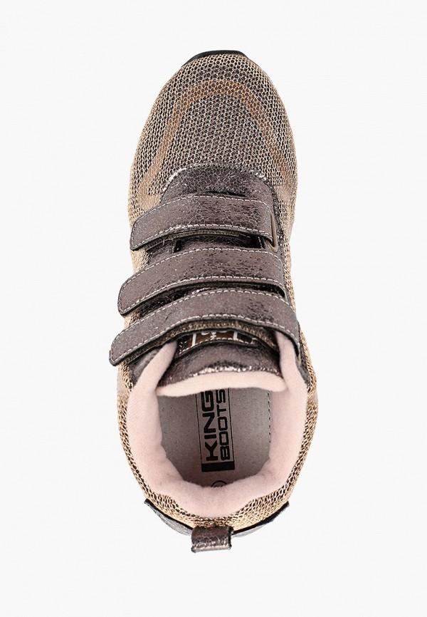 Кроссовки для девочки King Boots цвет золотой  Фото 4