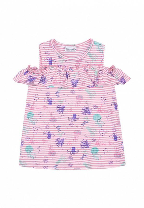 майка coccodrillo для девочки, розовая
