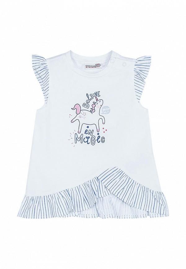 футболка coccodrillo для девочки, белая