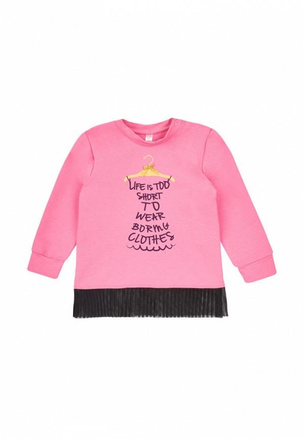 лонгслив габби для девочки, розовый