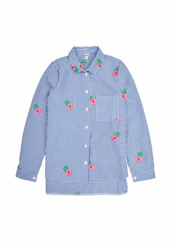 рубашка mevis для девочки, голубая