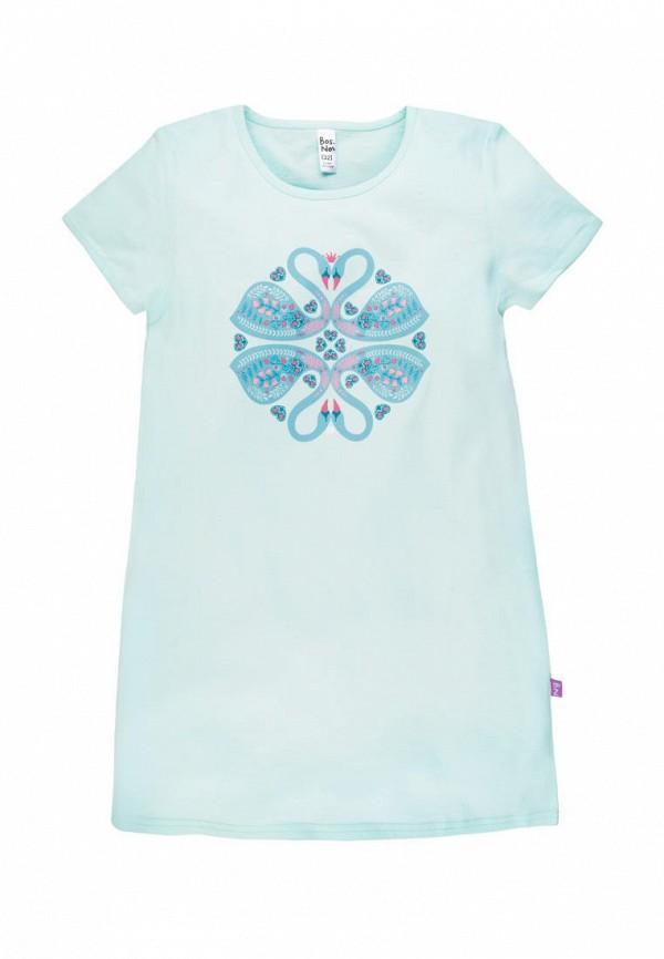 сорочка ночная bossa nova для девочки, голубые