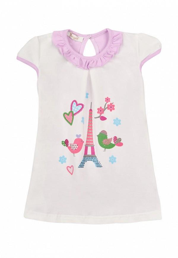 футболка с коротким рукавом вітуся для девочки, белая
