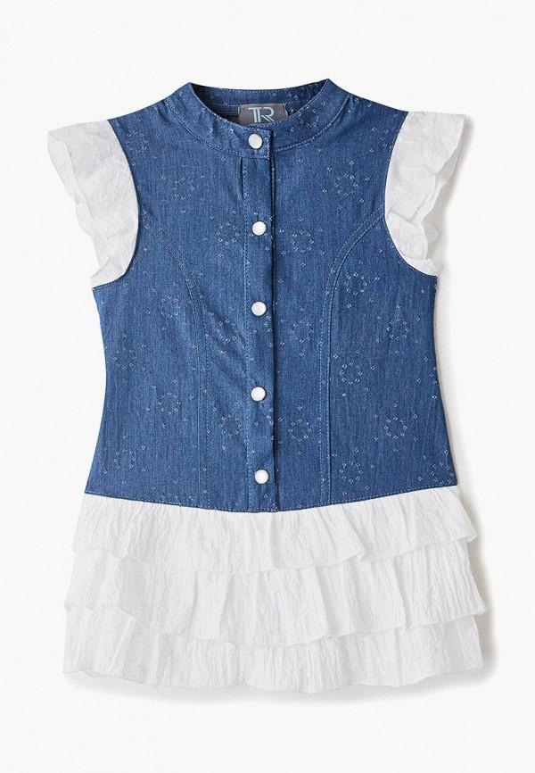 Платья для девочки джинсовое Trenders цвет синий