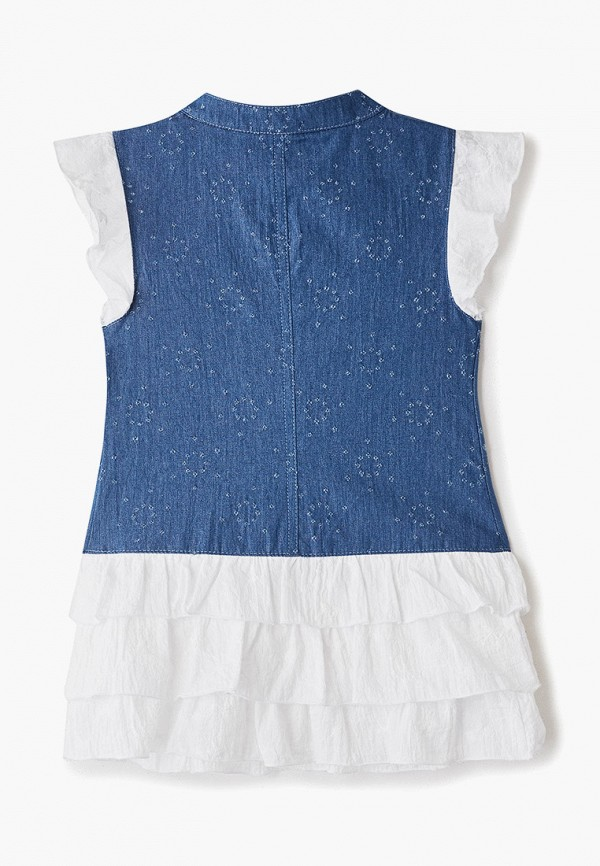 Платья для девочки джинсовое Trenders цвет синий  Фото 2