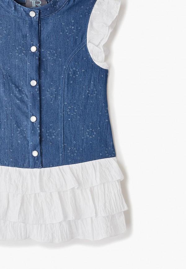 Платья для девочки джинсовое Trenders цвет синий  Фото 3