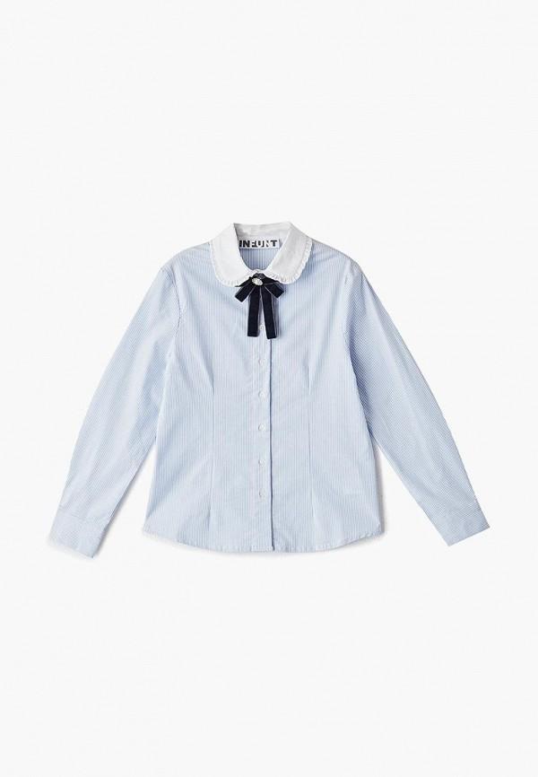 блузка infunt для девочки, голубая