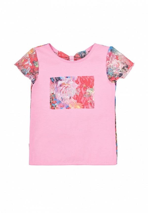 футболка с коротким рукавом габби для девочки, розовая