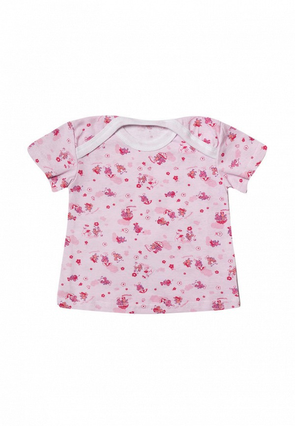 футболка клякса для девочки, розовая
