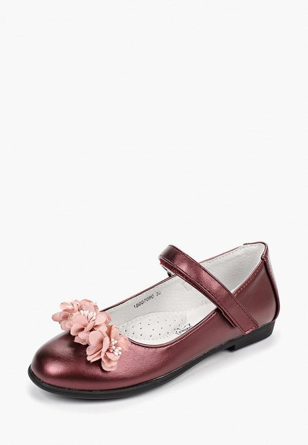 Туфли для девочки T.Taccardi цвет бордовый  Фото 2