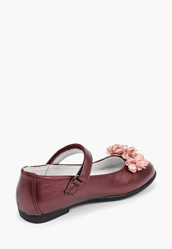 Туфли для девочки T.Taccardi цвет бордовый  Фото 3