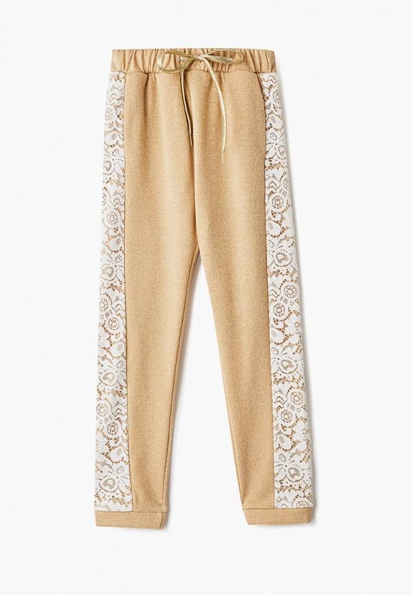 спортивные брюки смена для девочки, золотые