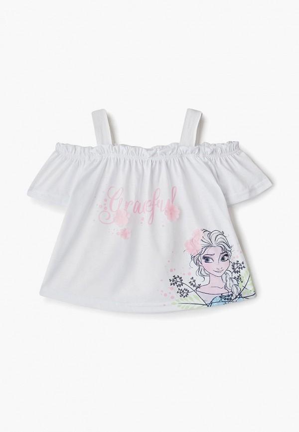 футболка disney для девочки, белая