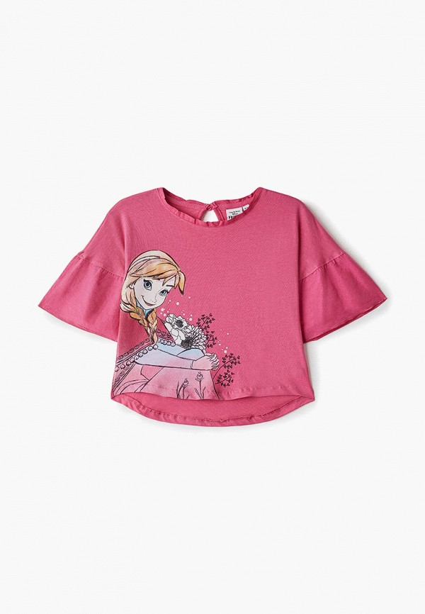 футболка disney для девочки, розовая