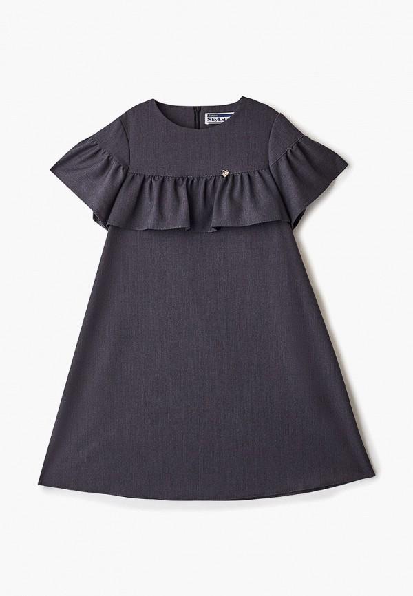 повседневные платье sky lake для девочки, серое