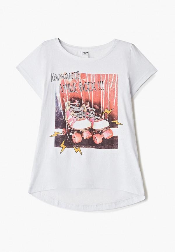 футболка наше для девочки, белая