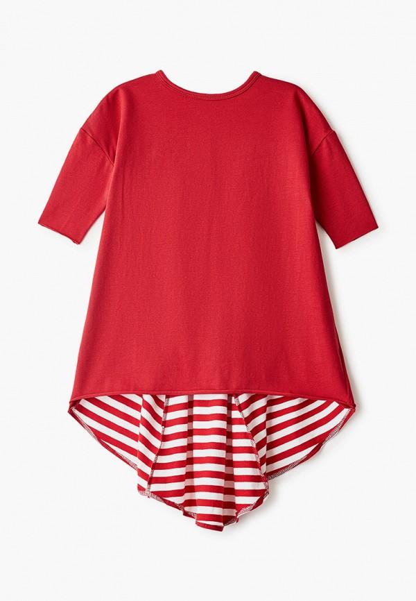 платье bubble's magic для девочки, красное