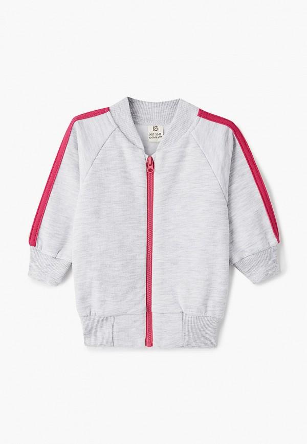 легкие куртка lucky child для девочки, серая