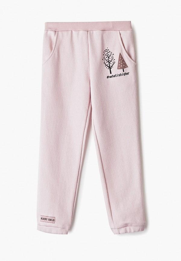 брюки lucky child для девочки, розовые