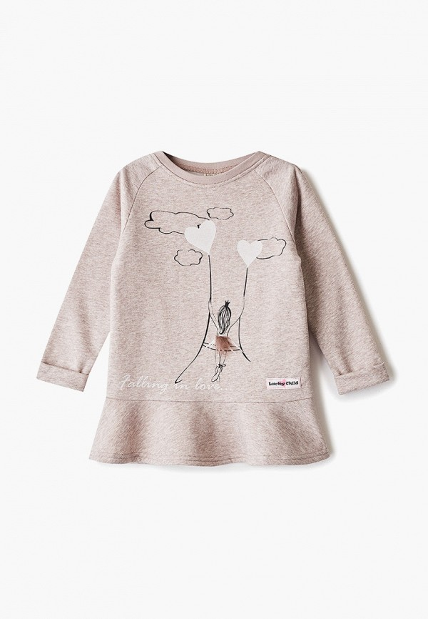 Платье Lucky Child Lucky Child MP002XG00NE0 платье для девочки lucky child цвет молочный серый 62 64ф бежевый размер 80 86