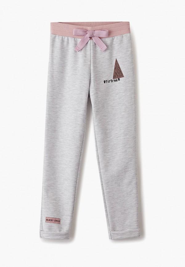 спортивные брюки lucky child для девочки, серые