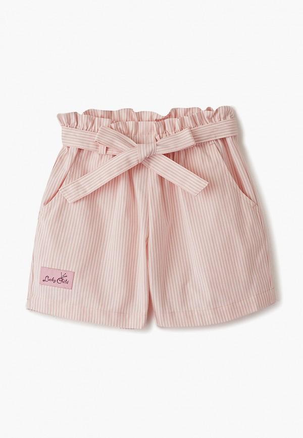 шорты lucky child для девочки, разноцветные