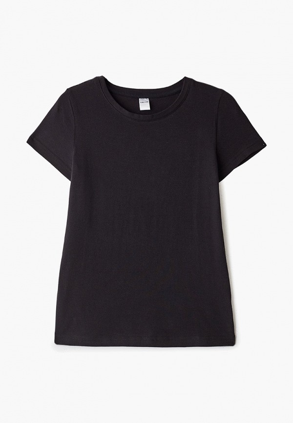 футболка наше для девочки, черная