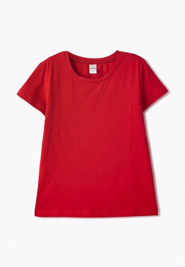 футболка наше для девочки, красная