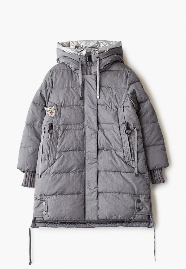 куртка mes ami для девочки, серебряная