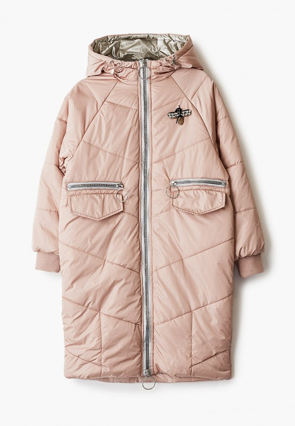 куртка mes ami для девочки, розовая