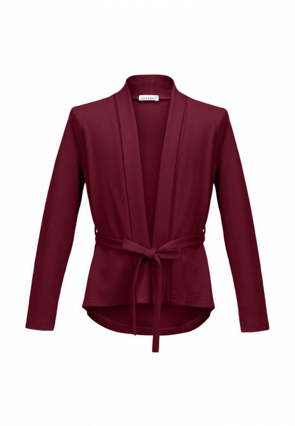 жакет stylish amadeo для девочки, бордовый
