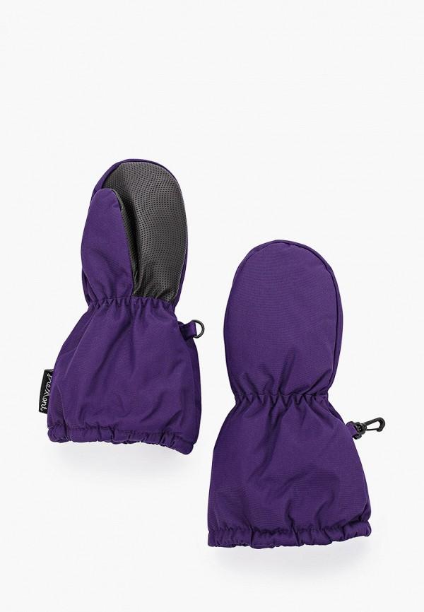 варежки premont для девочки, фиолетовые