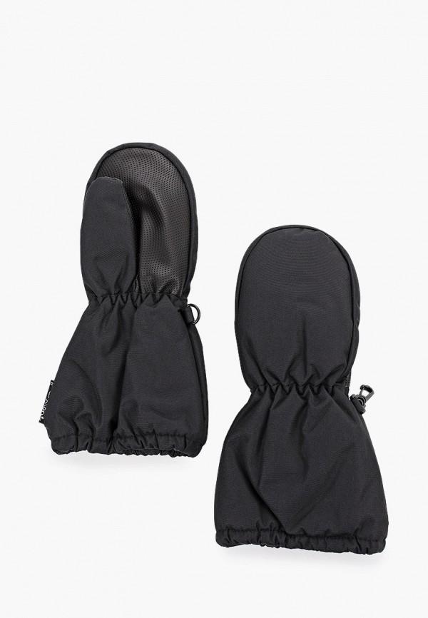 варежки premont для девочки, черные
