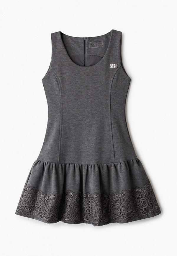 сарафан pinetti для девочки, серый