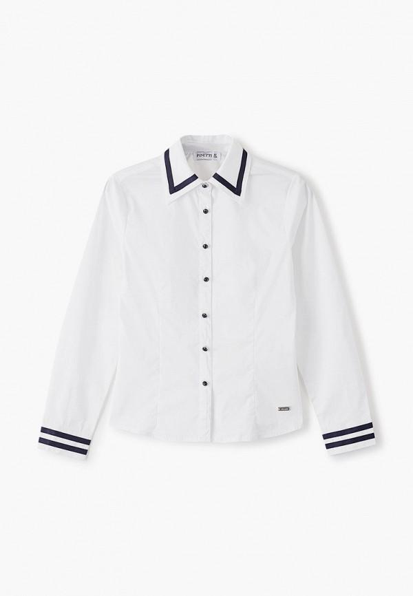 рубашка pinetti для девочки, белая