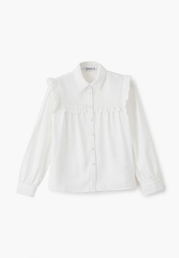 блузка pinetti для девочки, белая