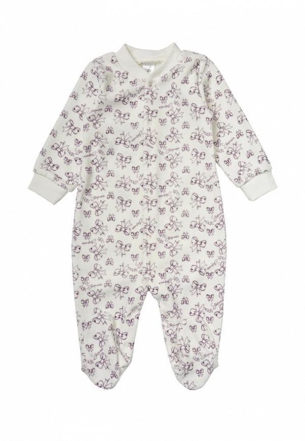 комбинезон фламинго текстиль для девочки, белый