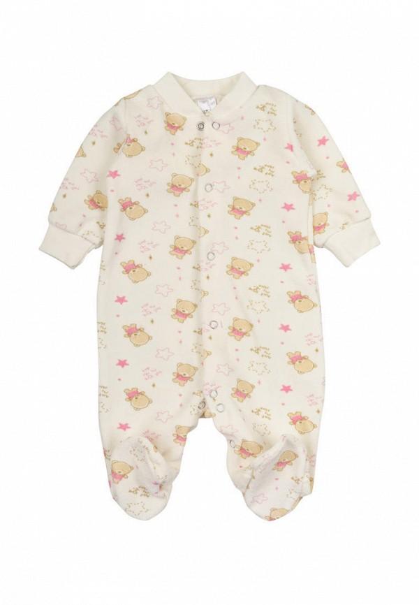 комбинезон фламинго текстиль для девочки, бежевый