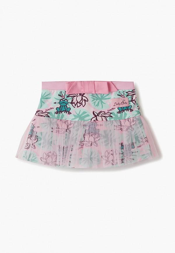 юбка lucky child для девочки, разноцветная