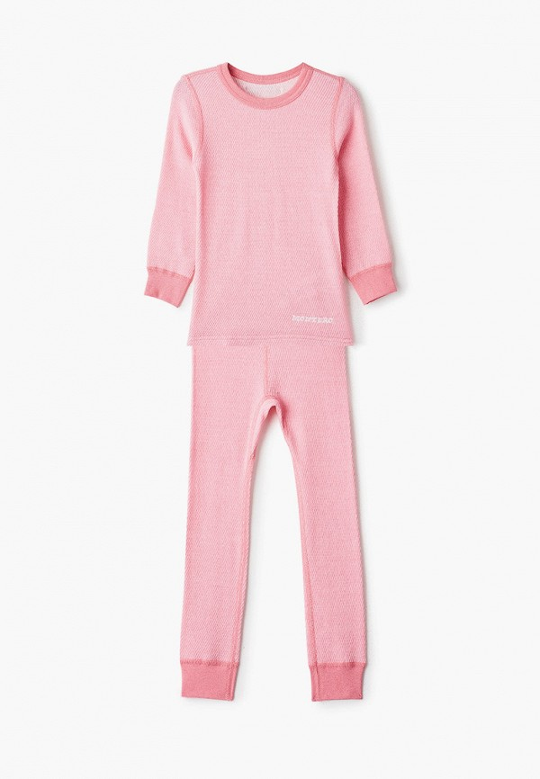 термобелье montero для девочки, розовое