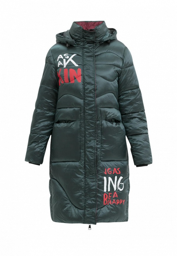 куртка jan steen для девочки, зеленая