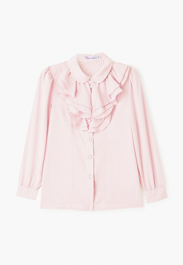 блузка школьная пора для девочки, розовая
