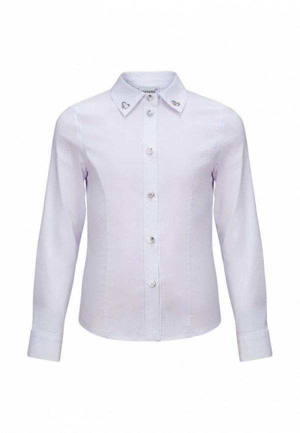 рубашка stylish amadeo для девочки, белая