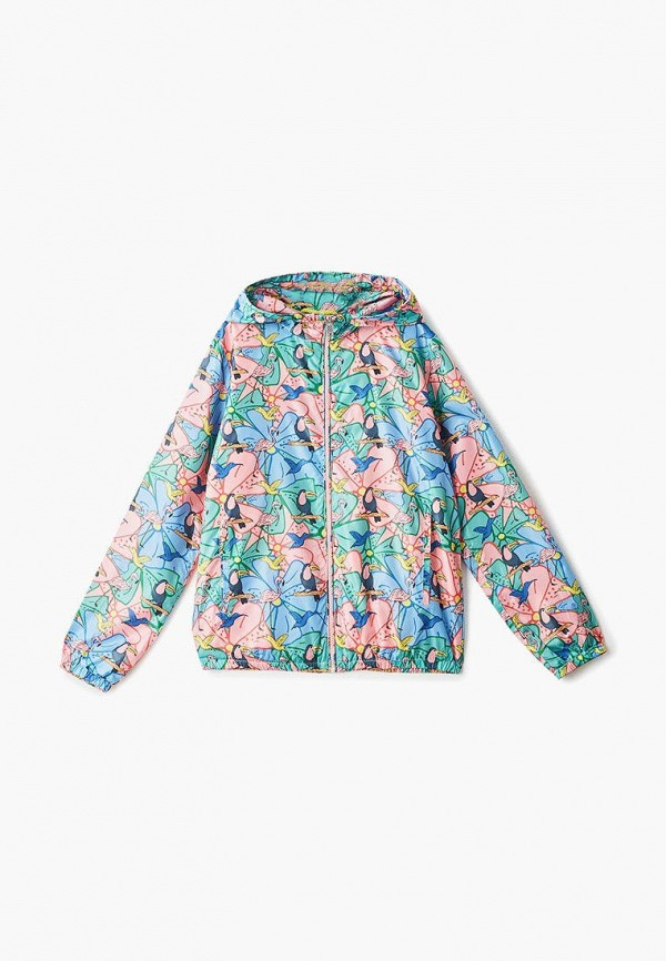 ветровка baon для девочки, разноцветная