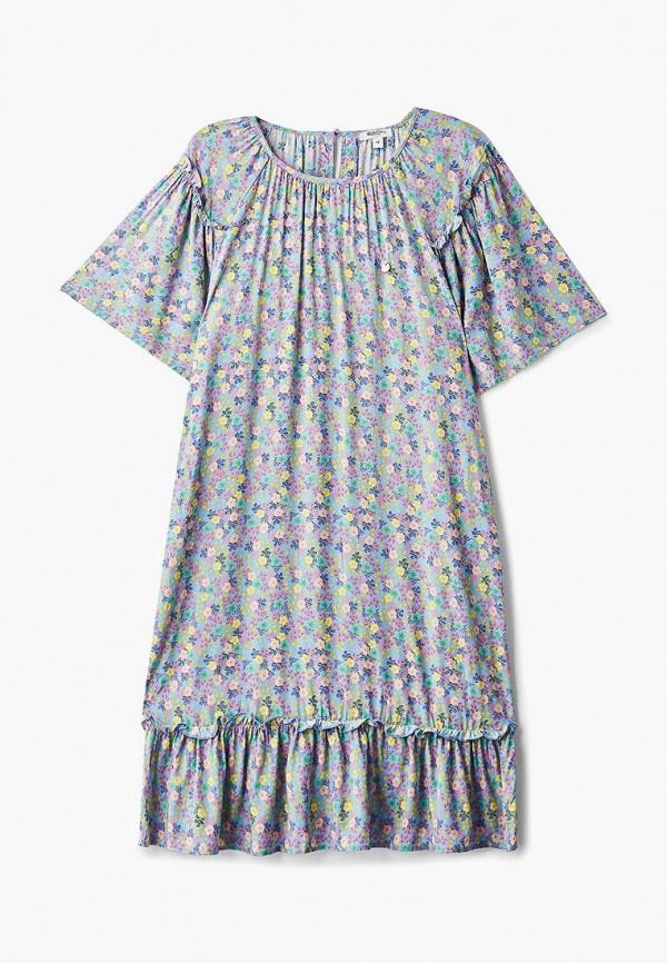 повседневные платье baon для девочки, голубое