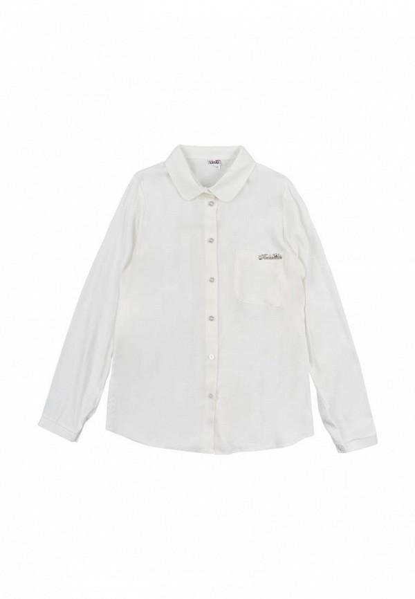 блузка mevis для девочки, бежевая