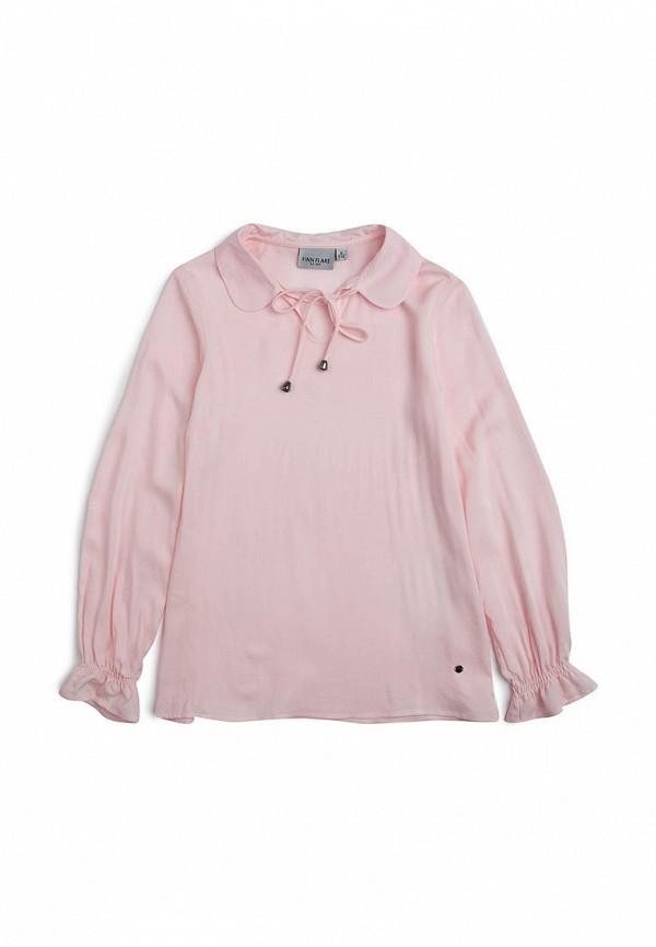 блузка finn flare для девочки, розовая