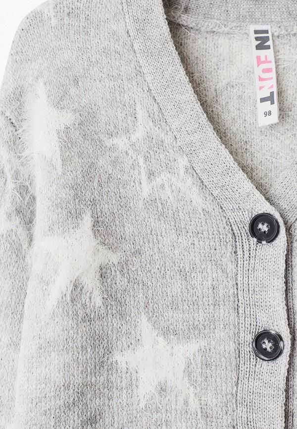 Кардиган для девочки Infunt цвет серый  Фото 3