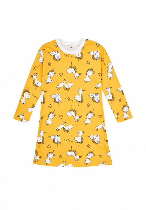 сорочка ночная garnamama для девочки, желтые