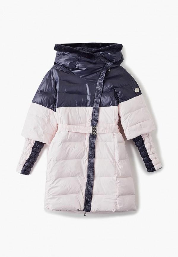 куртка mes ami для девочки, разноцветная
